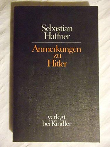 9783463008615: Anmerkungen zu Hitler