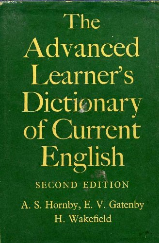 9783464000496: THE ADVANCED LEARNER'S DICTIONARY OF CURRENT ENGLISH