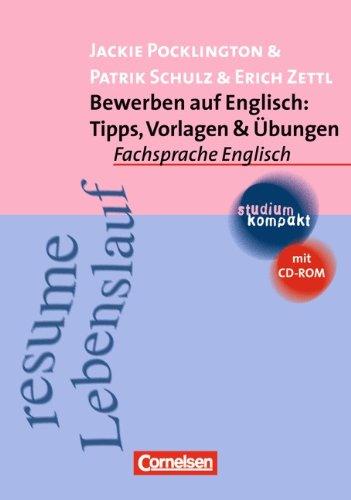 9783464031254: Bewerben auf Englisch: Tipps, Vorlagen und Übungen. Mit CD-ROM