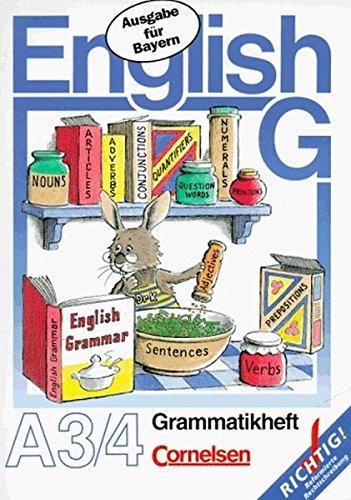 9783464071441: English G. Neue Ausgabe A 3/4 Bayern. Grammatikheft.