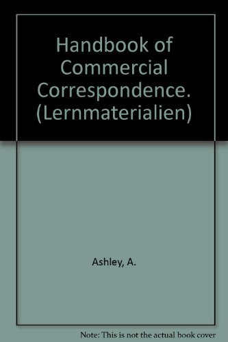 9783464103951: Handbook of Commercial Correspondence (Second Edition): Schülerbuch