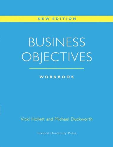 9783464113288: Business Objectives, Workbook