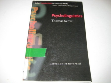 9783464117620: Psycholinguistics (Oxford Introduction to Language Study)