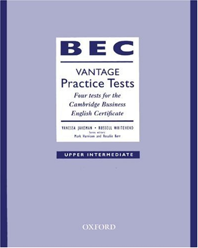 9783464120286: BEC Vantage Practice Tests, Upper Intermediate