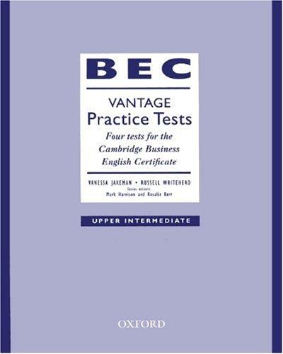 9783464120286: BEC Vantage Practice Tests, Upper Intermediate