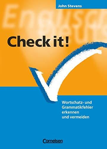 9783464310502: Check it!: Wortschatz- und Grammatikfehler erkennen und vermeiden