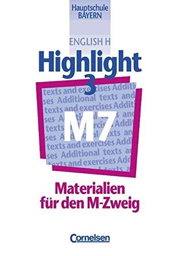 9783464343678: English H, Highlight, Hauptschule Bayern, Materialien für den M-Zweig