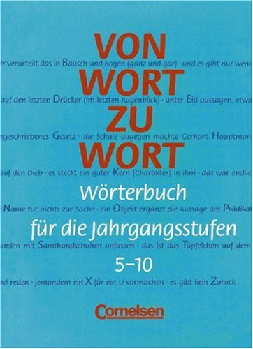 9783464618196: Von Wort zu Wort. RSR. Wörterbuch für die Jahrgangsstufen 5 - 10