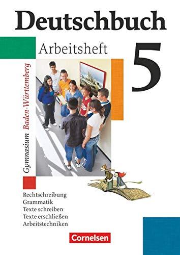 9783464680223: Deutschbuch Gymnasium 05. 9. Schuljahr. Arbeitsheft mit Lösungen. Baden-Württemberg: Sprach- und Lesebuch