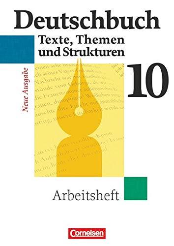 9783464680667: Deutschbuch 10. Schuljahr. Gymnasium. Arbeitsheft mit Lösungen: Sprach- und Lesebuch