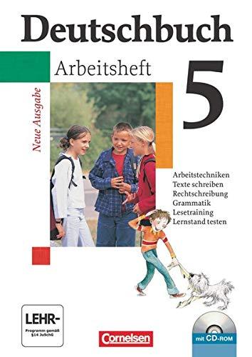 9783464680971: Deutschbuch Gymnasium 5. Schuljahr. Allgemeine Ausgabe. Arbeitsheft mit Lösungen und CD-ROM. Neubearbeitung