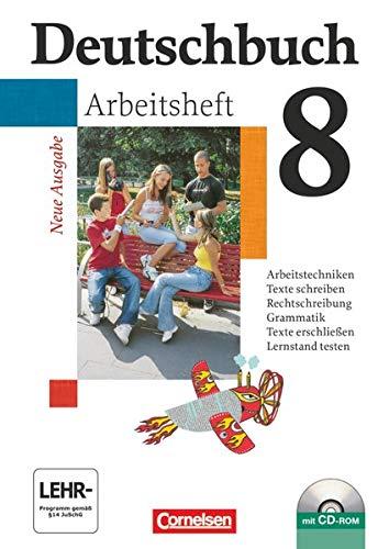 9783464681008: Deutschbuch 8. Schuljahr. Arbeitsheft mit Lösungen und CD-ROM. Gymnasium. Allgemeine Ausgabe