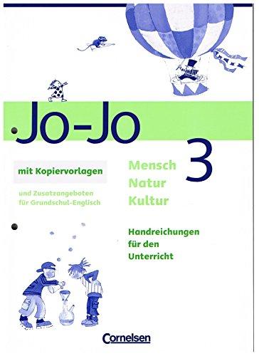 9783464819623: Jo-Jo. Mensch Natur Kultur 3. Handreichungen f�r den Unterricht mit Kopiervorlagen (Livre en allemand)