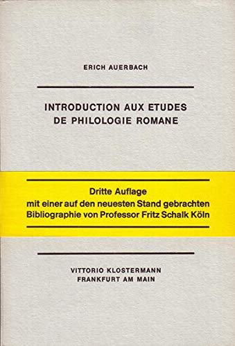 9783465000310: Introduction aux études de philologie Romane