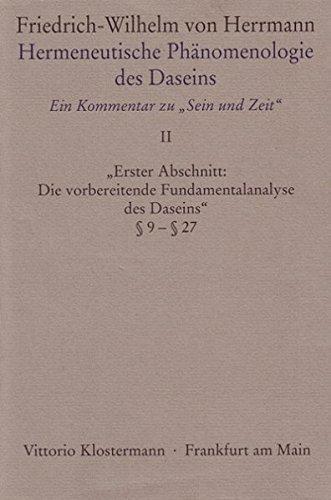 """Herrmann, Friedrich-Wilhelm von: Hermeneutische Phänomenologie des Daseins; Teil: Bd. 2., """"..."""