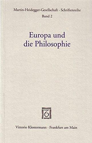 9783465025719: Europa und die Philosophie