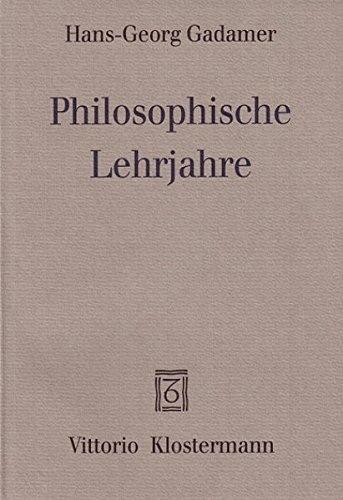 9783465028161: Philosophische Lehrjahre