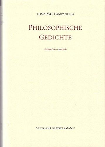 9783465028703: Philosophische Gedichte: Eine Auswahl. Ital. /dt.
