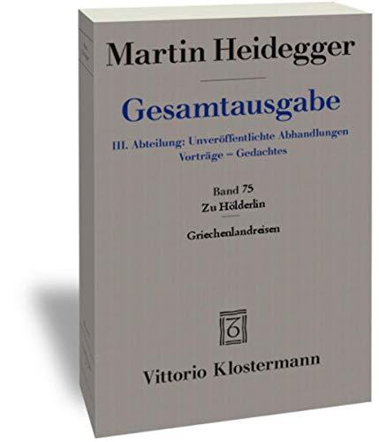 9783465030584: Zu Hölderlin - Griechenlandreisen (Band 75)