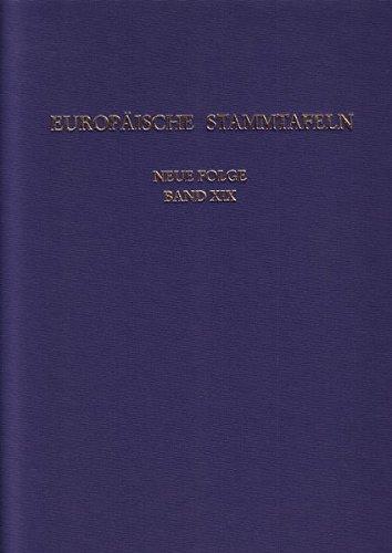 9783465030744: Europäische Stammtafeln. Neue Folge. Bd. XIX. Zwischen Weser und Oder.