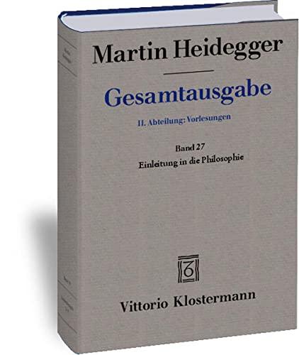 9783465031451: Martin Heidegger, Einleitung in Die Philosophie - Wintersemester 1928/29 (Martin Heidegger Gesamtausgabe) (German Edition)