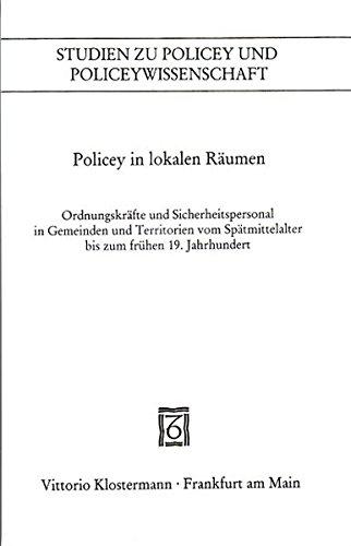 Policey in lokalen Räumen: André Holenstein