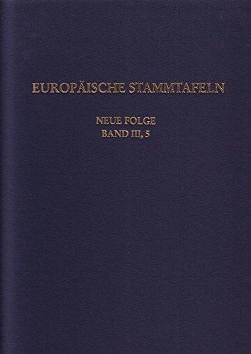 9783465032922: Europäische Stammtafeln. Neue Folge Bd. III/5: Seitenverwandte der Rurikiden