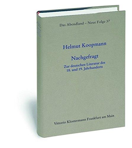 Nachgefragt: Helmut Koopmann