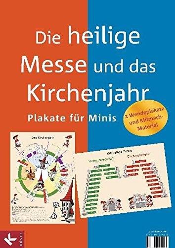 9783466369195: Die heilige Messe und das Kirchenjahr: Plakate f�r Minis. 2 Wendeplakate und Mitmach-Material