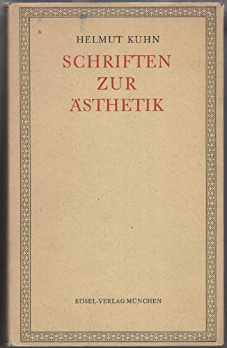 9783466400263: Schriften zur Ästhetik