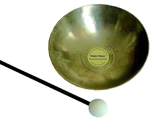 Original Peter-Hess-Therapieklangschale: Mit Schlagel. Aus hochwertiger Bronze plus zusatzlich 10 ...