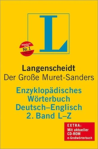 9783468011269: Langenscheidt Bilingual Dictionaries: Langenscheidt Encyclopaedic Muret-Sanders G/E Dictionary L-Z (German Edition)