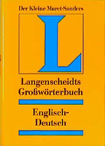 Langenscheidts Grosswörterbuch der englischen und deutschen Sprache, Englisch-Deutsch,