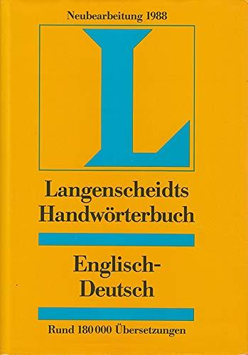 9783468041228: Langenscheidts Handworterbuch Englisch (Langenscheidts Handworterbucher)
