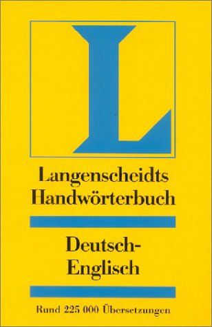 9783468041297: Langenscheidt Bilingual Dictionaries: Langenscheidts Handworterbuch Englisch (Deutsch/Englisch) (German Edition)