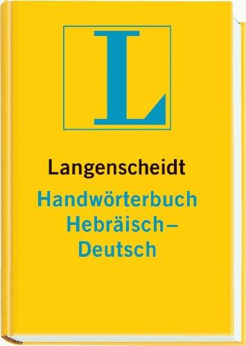 9783468041617: Hebräisch-Deutsch. Handwörterbuch. Langenscheidt.