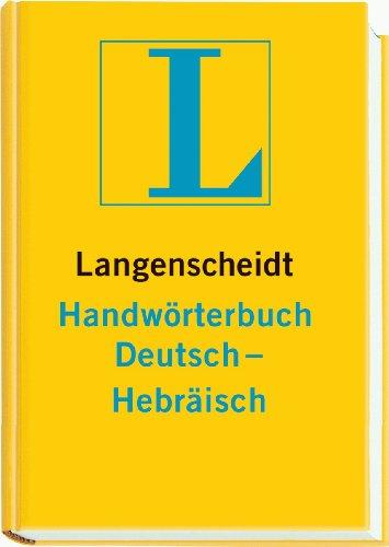 9783468041655: Langenscheidts Handwoerterbuch, Deutsch-Hebraeisch