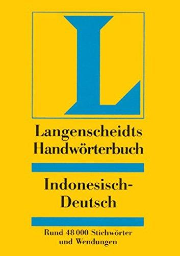 9783468041747: Langenscheidts Handwörterbuch, Indonesisch-Deutsch