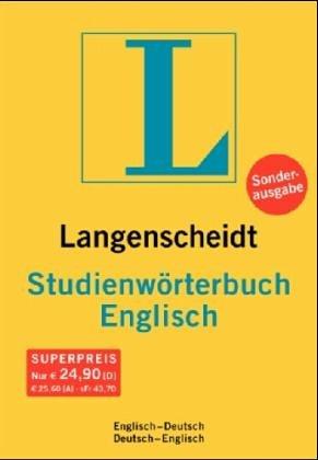 Langenscheidt Bilingual Dictionaries: Langenscheidt Studien-Worterbuch Englisch/Deutsch Deustch/Englisch (German Edition) (3468054009) by Langenscheidt