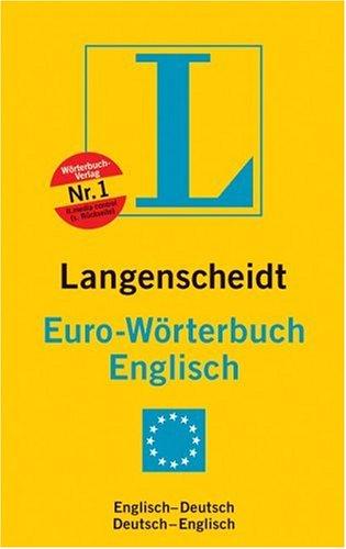 9783468121227: Langenscheidts Eurowörterbuch, Englisch, Sonderausgabe