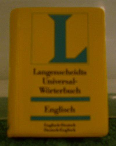 9783468181221: Englisch. Universal- Wörterbuch. Langenscheidt. Englisch-deutsch / Deutsch-englisch