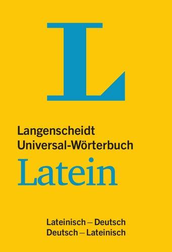 9783468182037: Langenscheidt Universal-Wörterbuch Latein