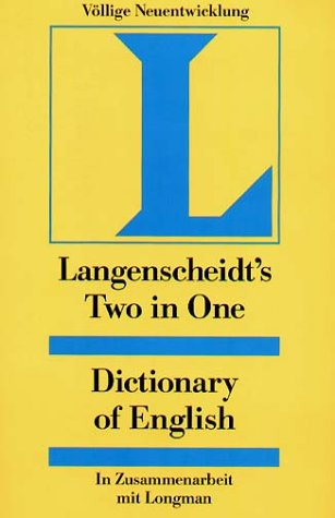 9783468203985: Langenscheidts Two in One Dictionary of English.