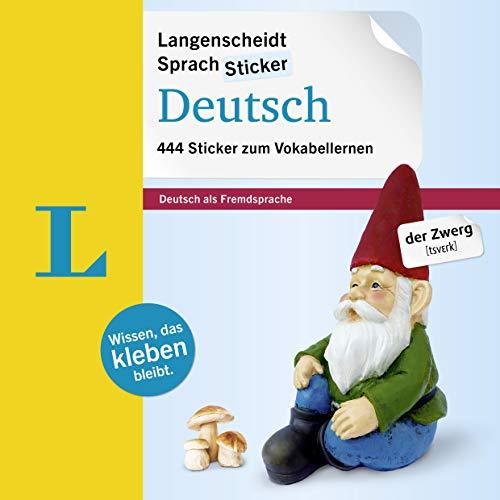 9783468227011: Langenscheidt Sprachsticker Deutsch: 444 German Language Stickers