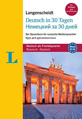 9783468282126: Deutsch in 30 Tagen für russische Muttersprachler. Buch mit Audio-CD