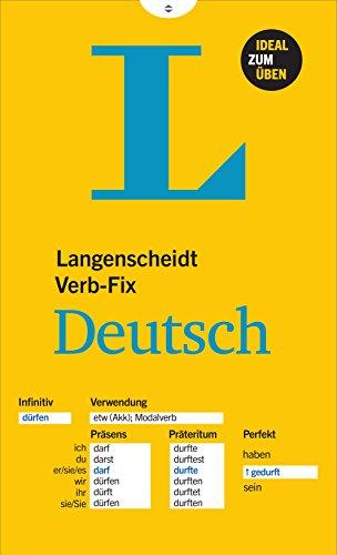 9783468340543: Langenscheidt Verb-Fix Deutsch - German Verbs at a Glance (German Edition)