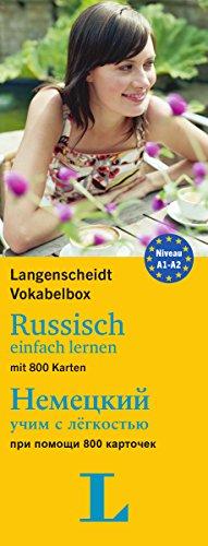 9783468340895: Langenscheidt Vokabelbox Russisch einfach lernen - für Anfänger und Wiedereinsteiger: Box mit 800 Karten, Russisch-Deutsch / Deutsch-Russisch
