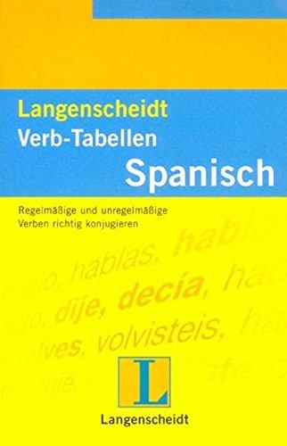 9783468343421: Langenscheidts Verb-Tabellen, Spanisch