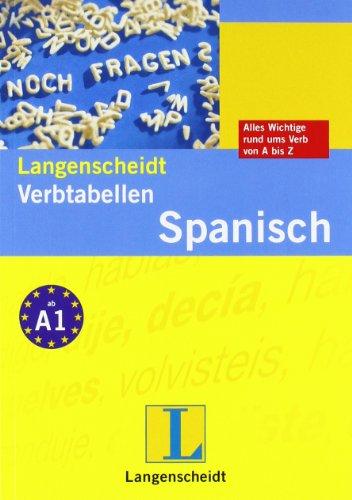 9783468343445: Langenscheidt Verbtabellen Spanisch
