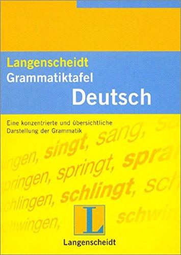 9783468361111: Langenscheidts Grammatiktafel: Deutsch (German Edition)